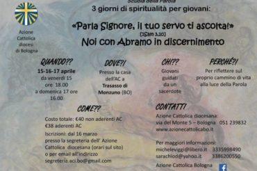 Tre giorni di spiritualità per giovani