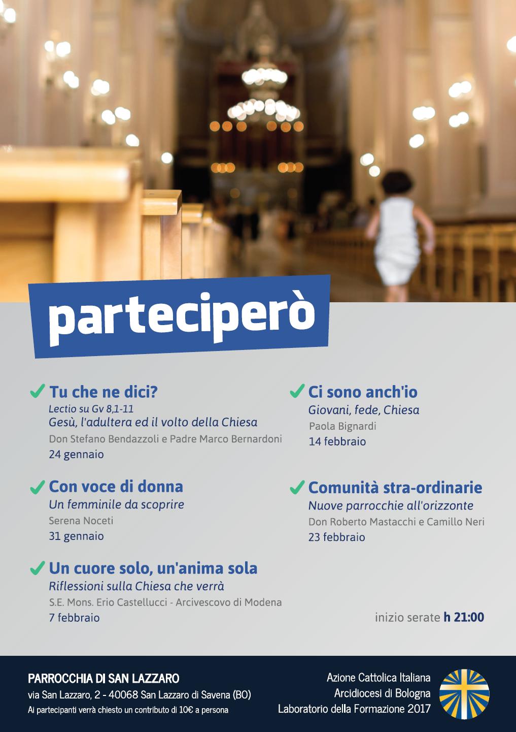 Lab della Formazione: Parteciperò (1) @ Parrocchia di San Lazzaro | San Lazzaro di Savena | Emilia-Romagna | Italia