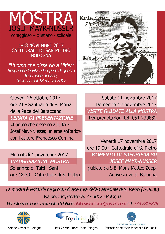Josef Mayr-Nusser: serata presentazione @ Santa Maria del Baraccano