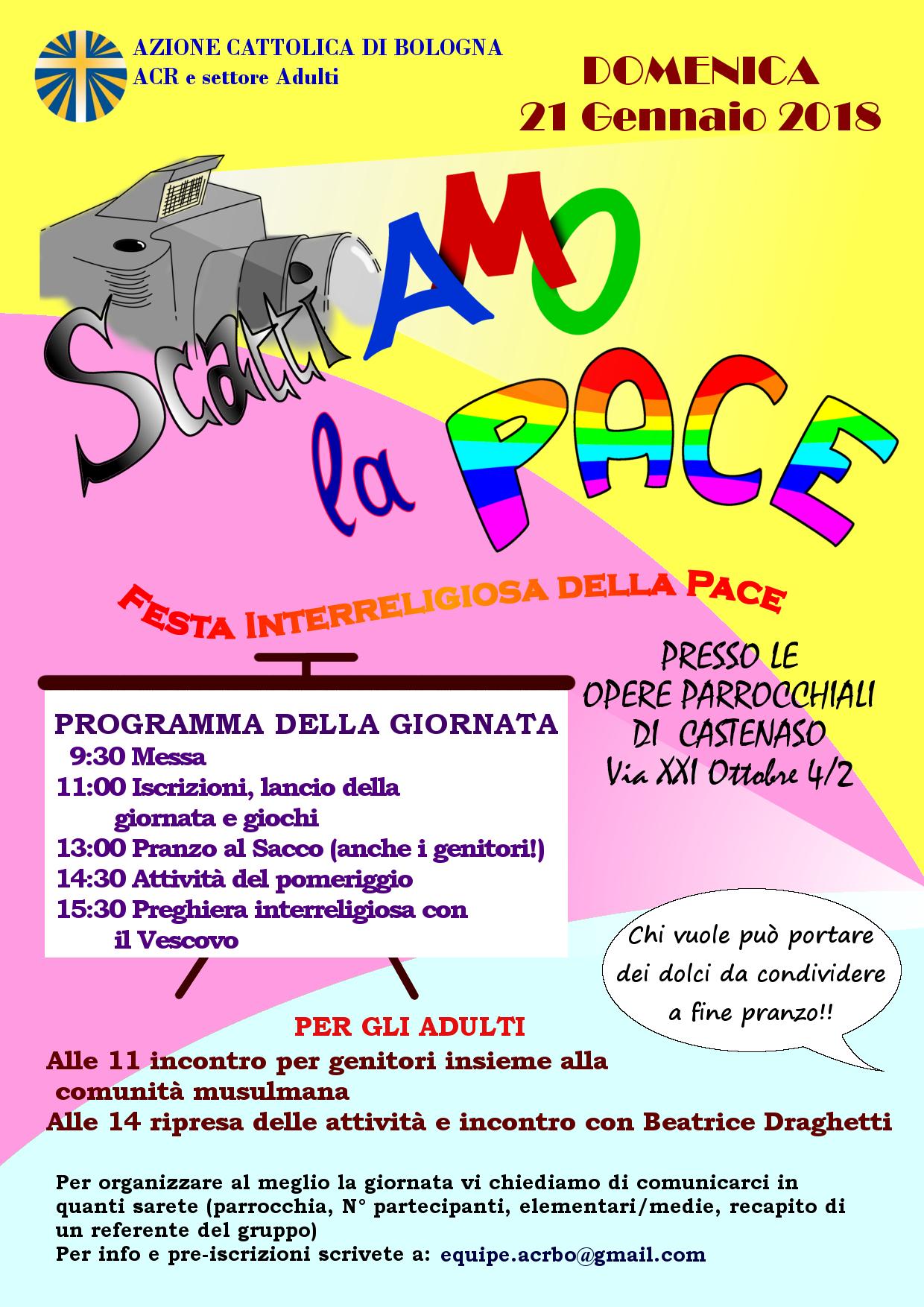 FESTA DELLA PACE @ Opere parrocchiali Castenaso | Castenaso | Emilia-Romagna | Italia
