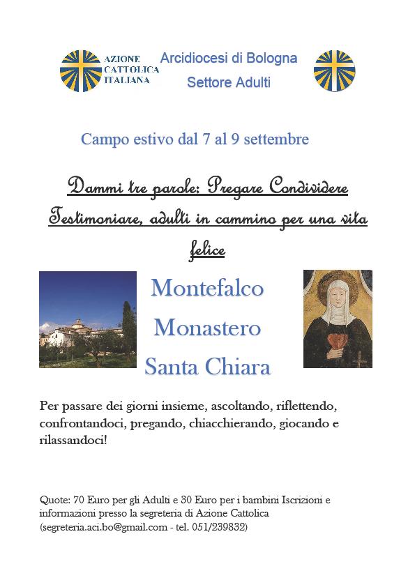 Campo adulti e famiglie @ Montefalco