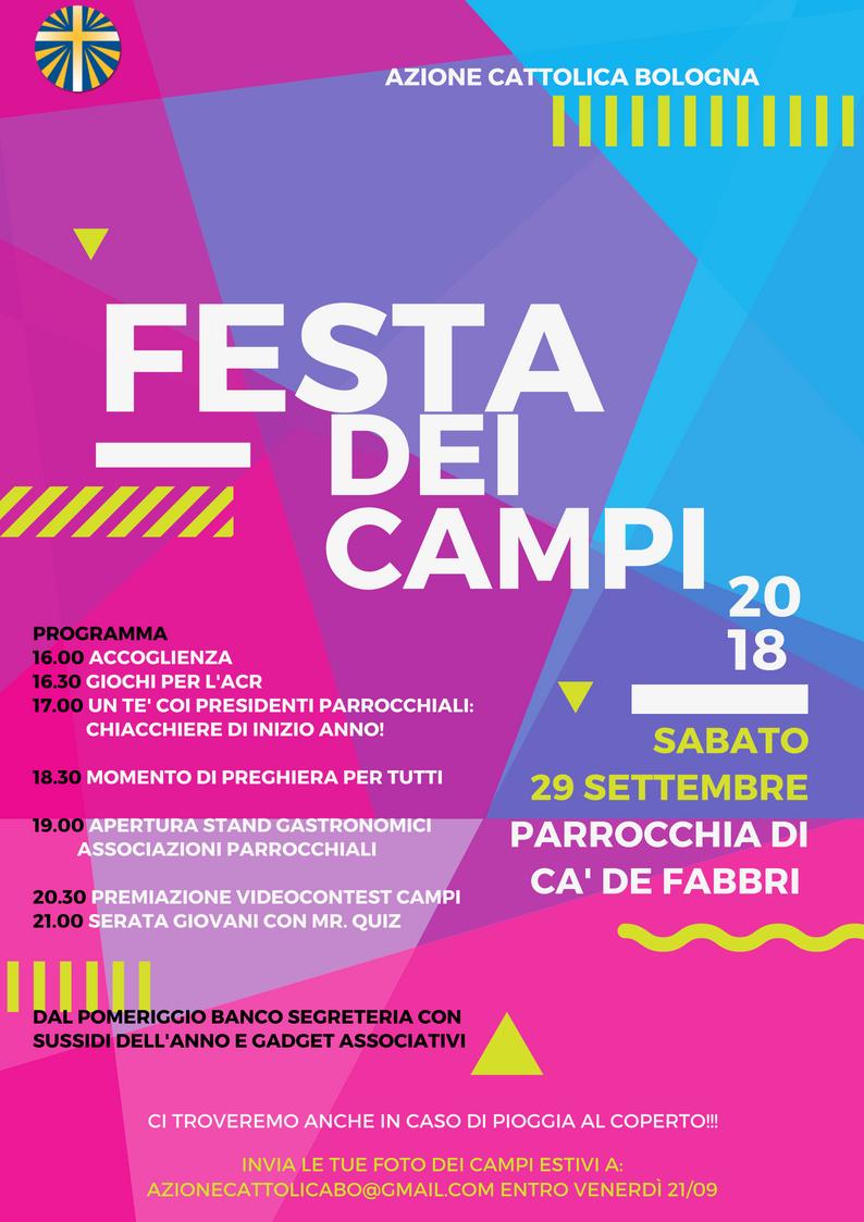 Festa dei campi 2018 @ Parrocchia di Ca' De Fabbri