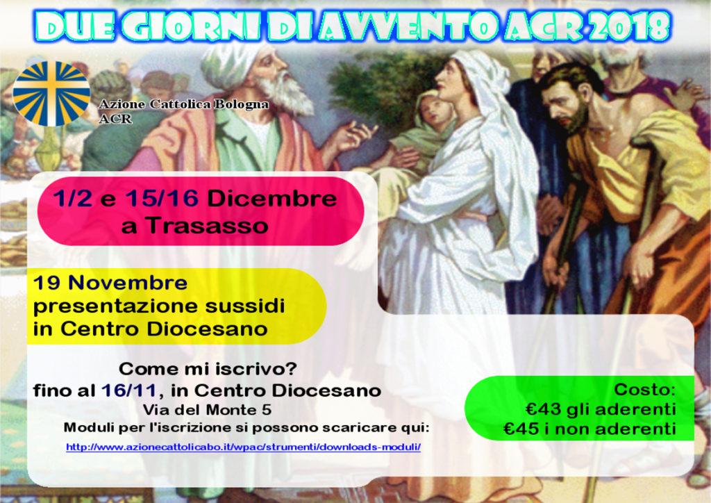Presentazione 2 giorni Avvento ACR @ Centro Diocesano (Sala riunioni 3° piano) | Bologna | Emilia-Romagna | Italia