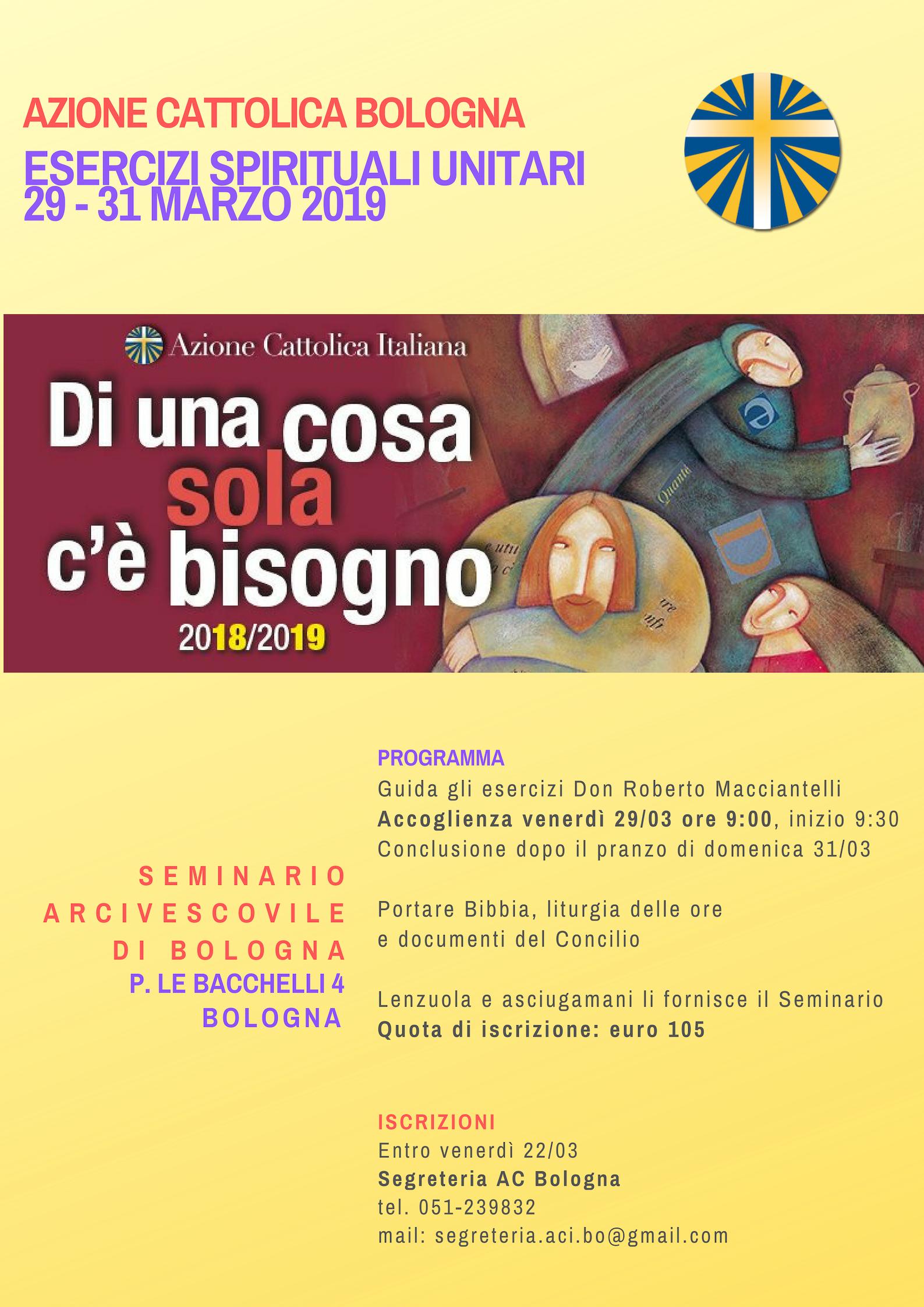 Esercizi spirituali unitari @ Seminario Arcivescovile