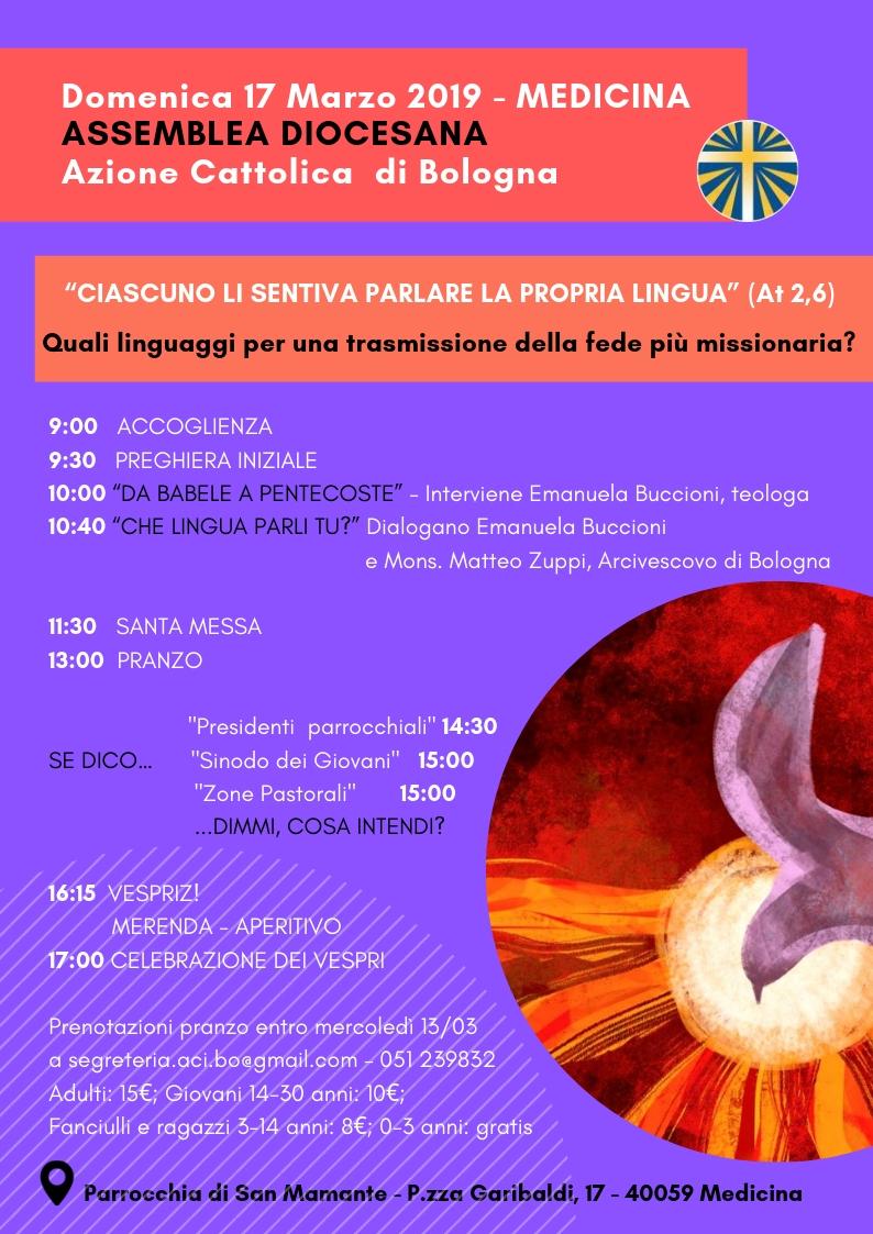ASSEMBLEA DIOCESANA @ Medicina - Parrocchia S. Mamante