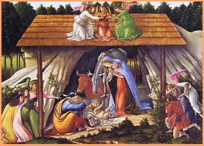 La Natività Mistica è l'unica opera firmata e datata da Botticelli; nonostante ciò non ci sono notizie certe sulla committenza. Si pensa che fosse originariamente destinata alla devozione privata di qualche famiglia nobiliare fiorentina.  È conservata alla National Gallery di Londra che l'acquistò nel 1848.