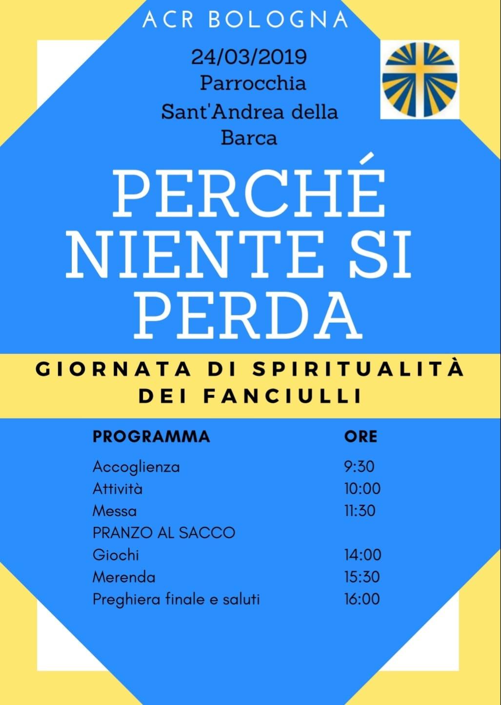 Giornata fanciulli 2019 @ Parrocchia Sant'Andrea della Barca