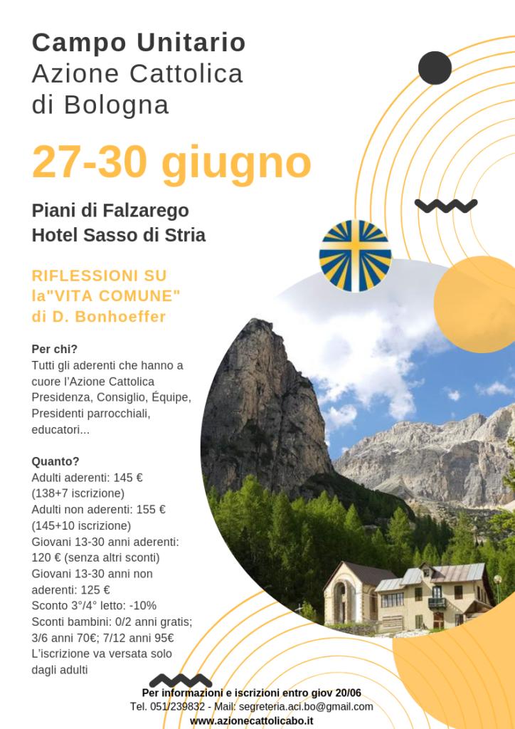 Parole Di Vita Calendario 2019.Campo Unitario 2019 Tempo Di Vita Comune Azione Cattolica