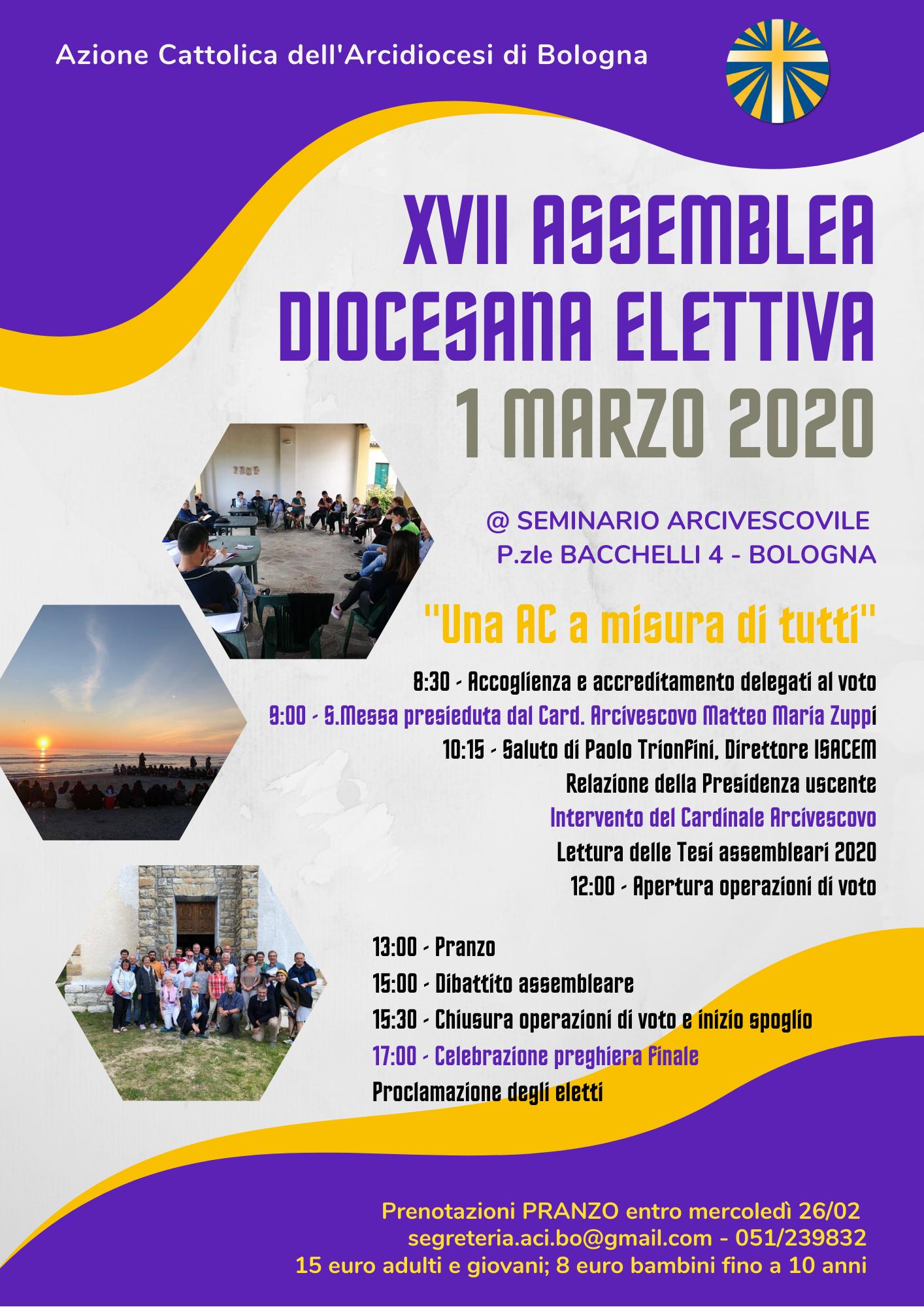 ASSEMBLEA DIOCESANA ELETTIVA (rimandata) @ Seminario arcivescovile di Bologna