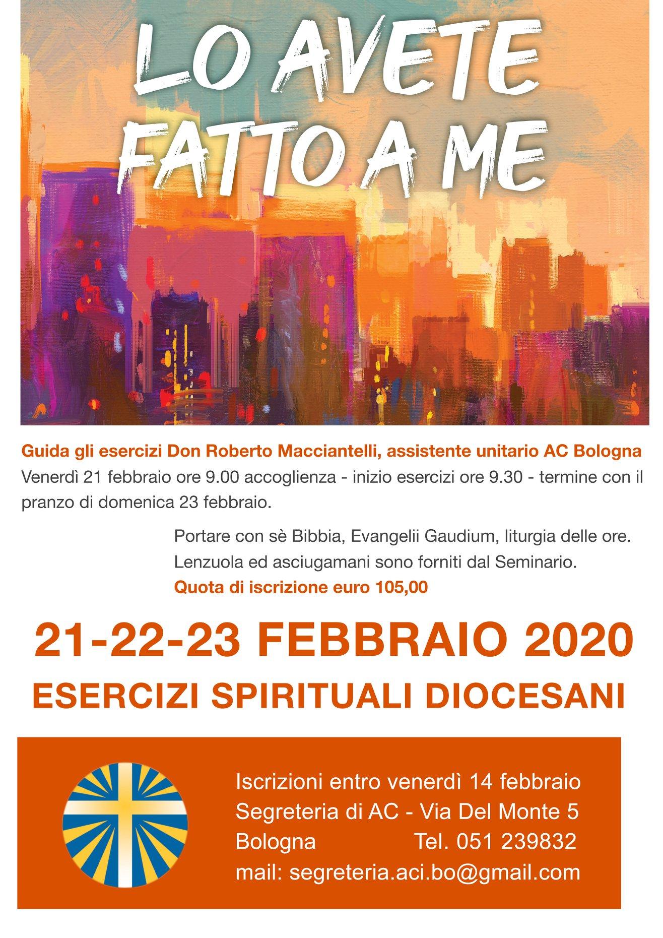 ESERCIZI SPIRITUALI DIOCESANI @ Seminario arcivescovile