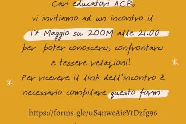 Incontro con gli educatori ACR